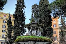 Fontana in Piazza dei Quiriti, Rome, Italy