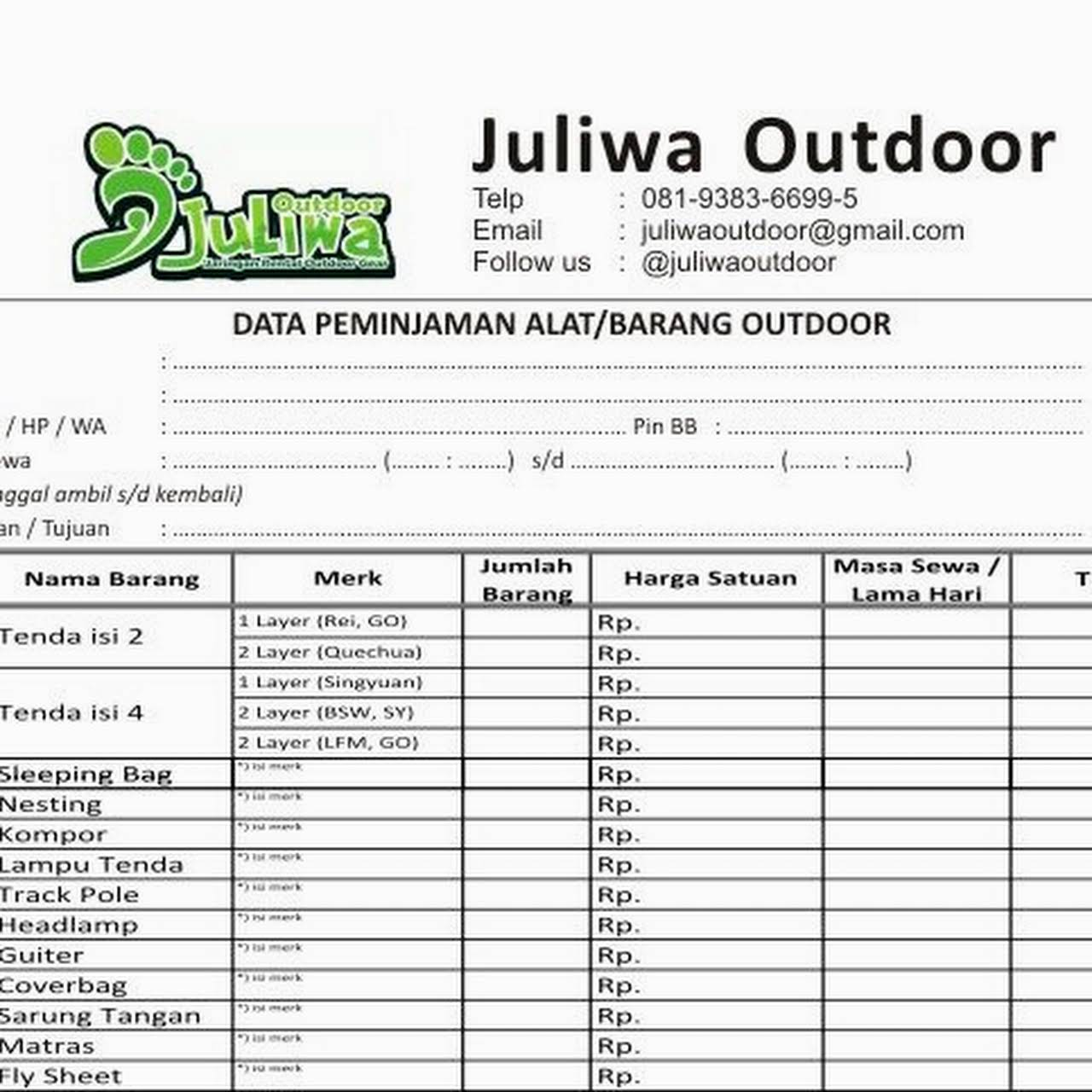 Juliwa Outdoor Surabaya Outdoor Rental Maintenance Service Juliwa Outdoor Surabaya Menyediakan Rental Alat Camping Dan Melayani Maintenance Service Untuk Alat Camping Kalian Yang Rusak Ataupun Kotor