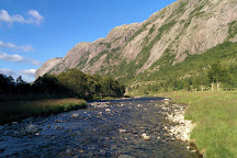 Manafossen Falls and Man Farm, Gjesdal Municipality, Norway