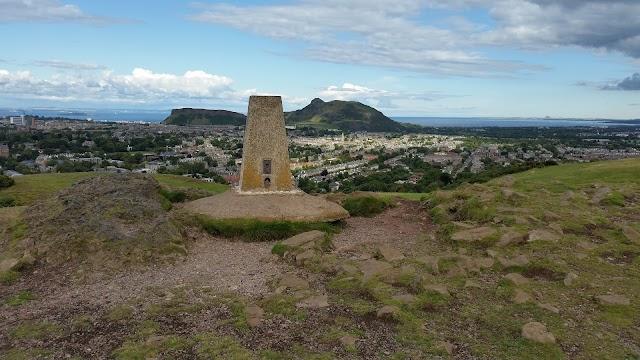 Blackford Hill summit - OS triangulation point