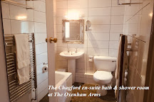 The Oxenham Arms and South Zeal Menhir Dartmoor Devon, South Zeal, United Kingdom