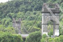 Suspension bridge of East River, Sainte-Rose, Reunion Island