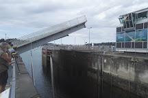 Barrage and tidal power Rance, Dinard, France