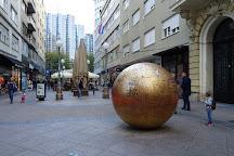Sculpture Grounded Sun, Zagreb, Croatia