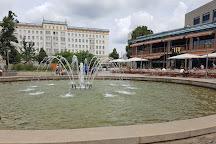 Springbrunnen auf dem Ulrichplatz, Magdeburg, Germany