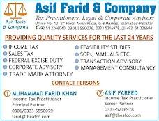 Asif Farid & Company (Tax Practitioners, Legal & Corporate Advisors) islamabad