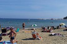 Plage du centre ville de Cavalaire, Cavalaire-Sur-Mer, France