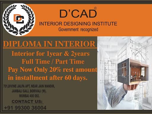 D Cad Interior Designing Institute Interior Designer In Mumbai
