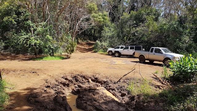 Waipo`o Falls Parking Lot