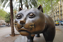 Cat, Fernando Botero, Barcelona, Spain