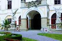Gardens and Castle at Kromeriz, Moravia, Czech Republic