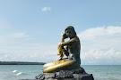 Golden Mermaid Statue