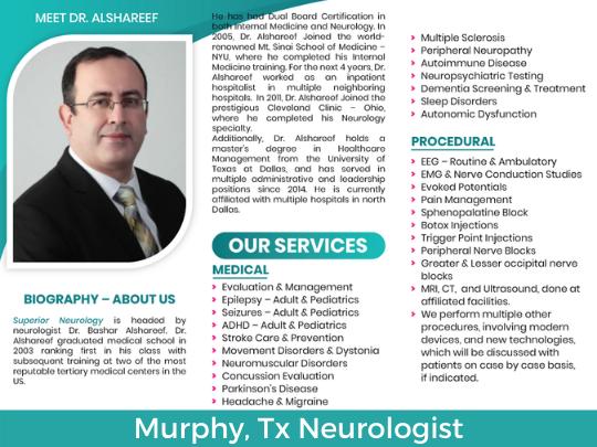 murphy tx neurologist