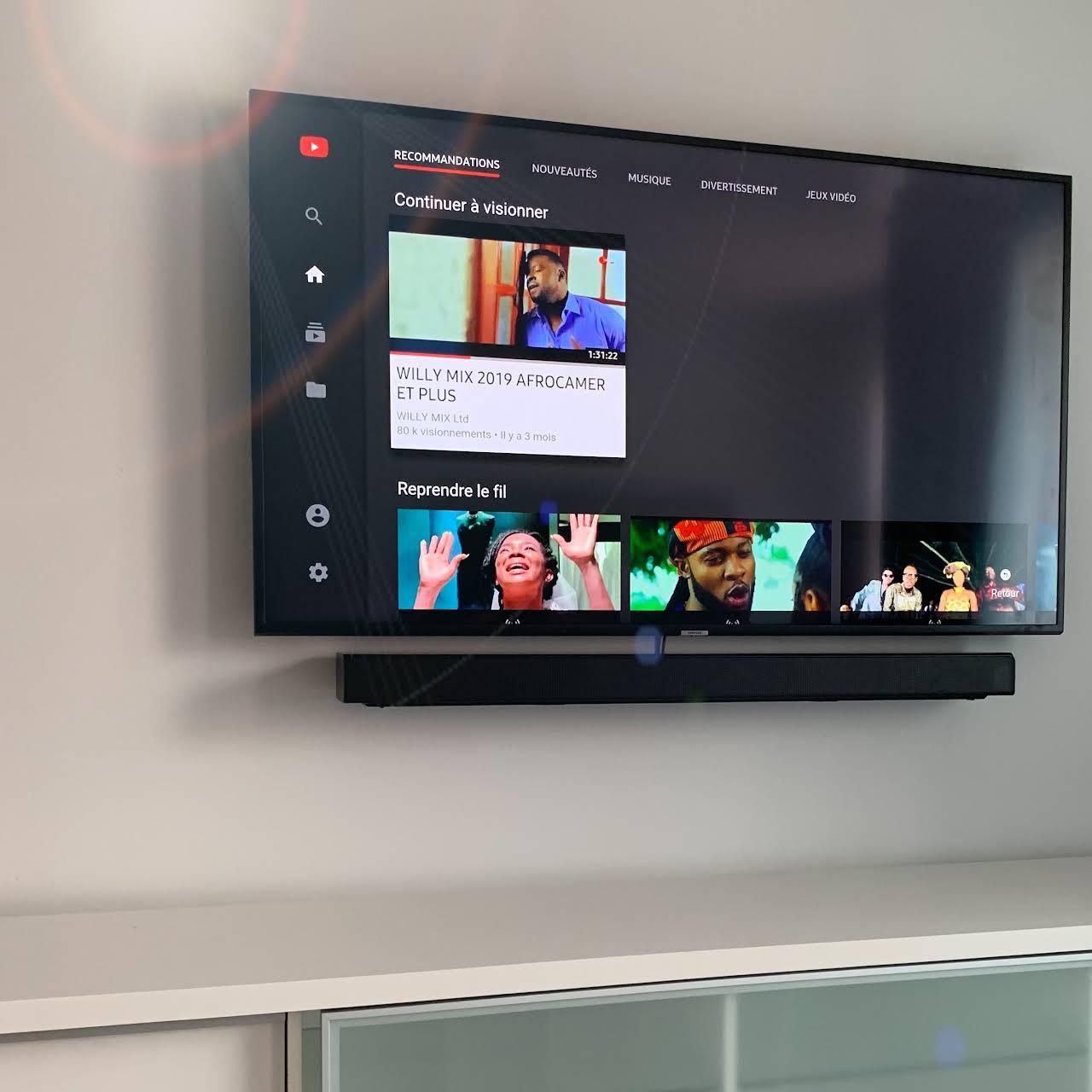 stmtv installation television au mur
