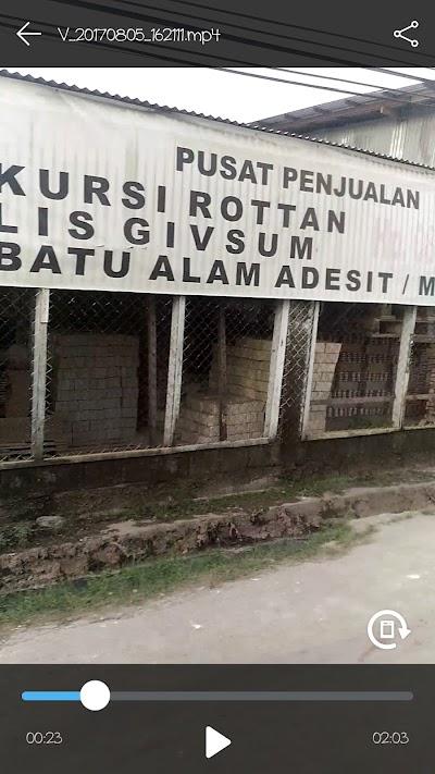 TOKO KARYA MUJI (Pusat Penjualan Kursi Rotan, Lis Givsun, Batu ALAM)