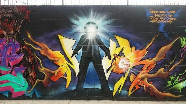 Nelson Avenue Graffiti Art Wall