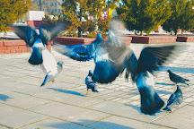 Isatay and Makhambet Square, Atyrau, Kazakhstan