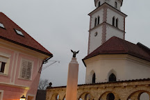 Plečnik's Arcade & Fountain, Kranj, Slovenia