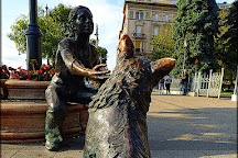 Girl With Her Dog Statue, Budapest, Hungary