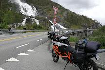 Langfoss Waterfall, Etne Municipality, Norway