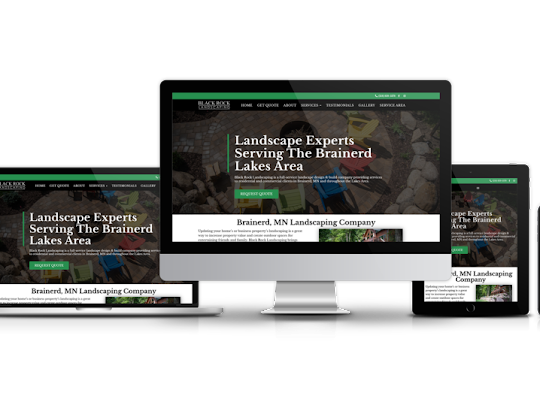 Black Rock Landscaping website