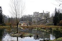 Les ruines du Chateau Fort de Montaigle, Falaen, Belgium