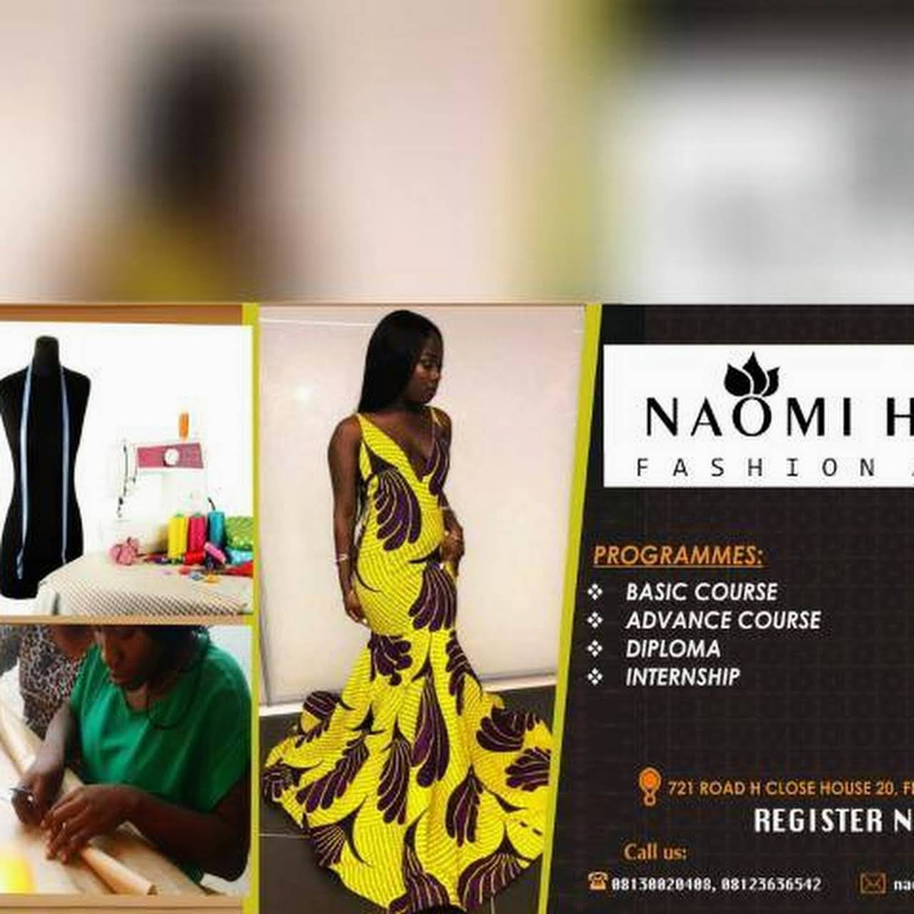 Naomi Holmes Concept Fashion Designer In Lagos