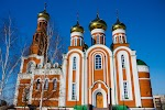 Кафедральный собор Рождества Христова, проспект Комарова на фото Омска