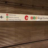 Станция метро  станции  Àngel Guimerà