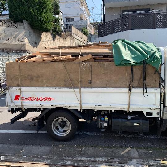 練馬区北町木材回収
