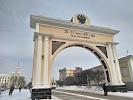 "Триумфальная арка ""Царские ворота"" на фото Улана-Удэ"