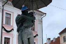 'The Kissing Students' sculpture and fountain, Tartu, Estonia