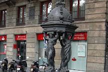 Wallace fountain, Barcelona, Spain
