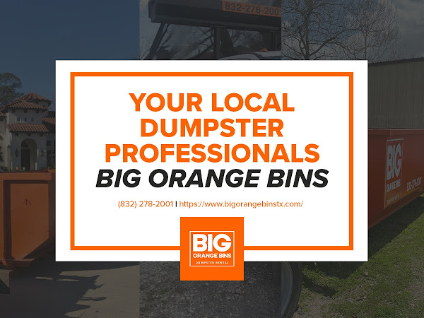 Dumpster Rental Houston TX - Big Orange Bins