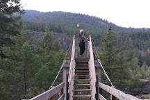 Kootenai Falls Suspension Bridge, Libby, United States