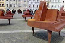 Samson's Fountain, Ceske Budejovice, Czech Republic