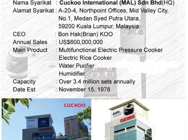 Cuckoo International Sri Rampai
