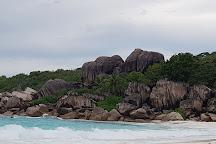 Anse Gaulettes Beach, La Digue Island, Seychelles