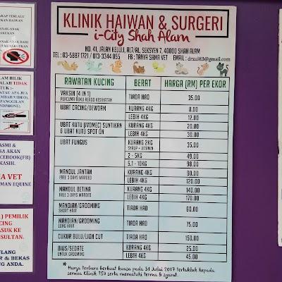 Klinik Haiwan I City Shah Alam Branch Selangor 60 3 5887 1721