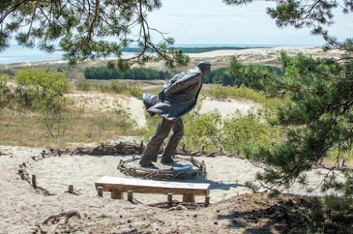 """Skulptūra """"Prieš vėją"""""""