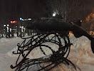 Памятник треске на фото Мурманска
