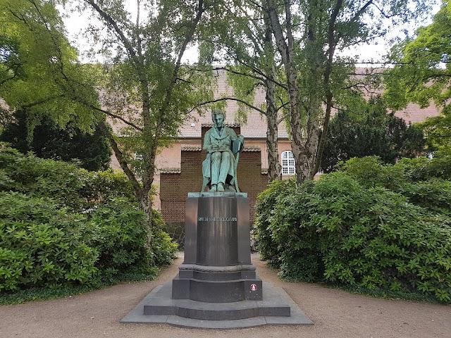 Søren Kierkegaard Statue in the Library Garden