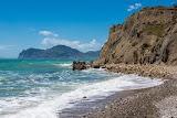Пляж в Тихой Бухте за вторым мысом