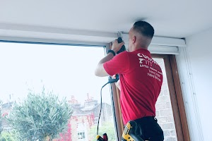 [Erind onTrack] Curtain & Blind Fitting Specialists - Bay Window Silent Gliss Tracks & Poles - Roller, Roman & Venetian Blinds Installation Service - West & South West London