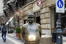 The Fat Policeman Statue, Budapest, Hungary
