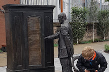 The Searcher, CS Lewis Wardrobe Statue, Belfast, United Kingdom