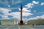 Александровская колонна на фото Санкт-Петербурга