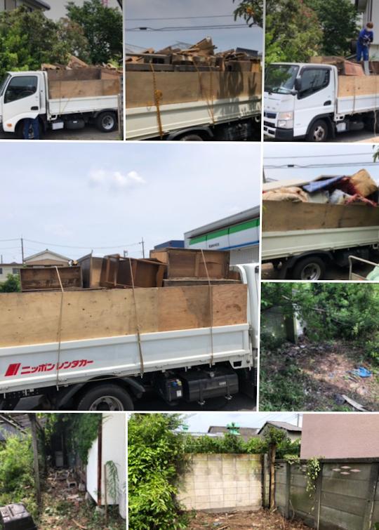埼玉県草加市 一軒家庭の残地回収