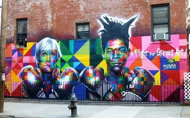 Basquiat & Warhol Mural