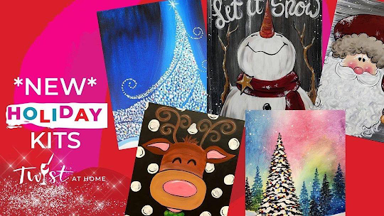 DIY Art kits Painting with.a Twist Charlotte